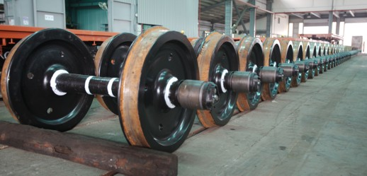 Used 35T 14m Flatbed Rail Car wheels